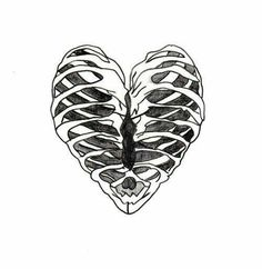 love drawing heart Sketch skeleton bones ribs ribcage organ chasing-the-beautiful-life Sketches, Tattoos, Drawings, Tumblr Png, Heart Sketch, Rib Cage, Art, Pictures, Geometric Tattoo