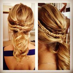 #updo #weddinghair #curly #braids