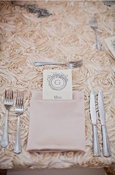 Romantic Rosette Tablecloths, Rosette Table Runners, White, Champagne, Blush and Ivory Wedding, Bridal Shower on Etsy, $25.00