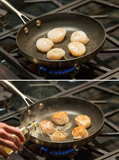 How to sear scallops. More photos and description in the post. I use a Scanpan CTX. Great pan.