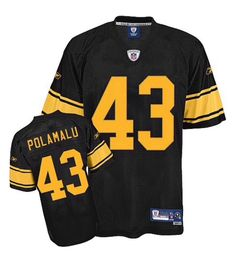 98fcd7211 Pittsburgh Steelers Troy Polamalu #43 Reebok Youth Boy's S Small Screened  Jersey #Reebok #