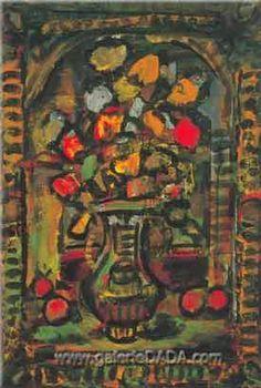 roualt flowers | Georges Rouault, Decorative Flowers Fine Art Reproduction Oil Painting