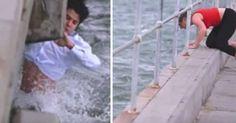 Πήγε να πετάξει τη στάχτη της γιαγιά του στη θάλασσα - Τότε βλέπει το αδιανόητο και βουτάει δίχως δεύτερη σκέψη στο νερό [video]