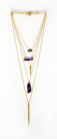 spice things up with layered chains | kei jewelry Absolutely love this