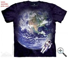 Astro Earth The Mountain T Shirt Astronaut Moon Space Walk Smithsonian Tee