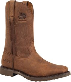 G006 Georgia Men's Carbo-Tec Chevron Work Boots - Brown