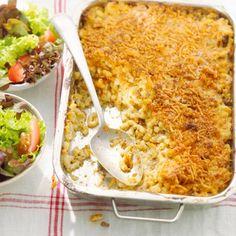 Romige macaroni cheese