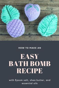 How to make DIY easy bath bombs.  This home made recipe has shea butter to act like a glue to hold the ingredients together so they are form and less likely to break.  They have citric acid, baking soda, and Epsom salt so they are fizzy when they go in the water. They are scented with essential oil.  Make your own DIY recipe for bath bombs.  #bathbomb #fizzy #easy #diy Fizzy Bath Bombs, Homemade Bath Bombs, Homemade Lip Balm, Homemade Soap Recipes, Natural Bath Bombs, Bombe Recipe, Lip Balm Recipes, Bath Bomb Recipes, Beauty Care
