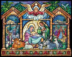 Stained Glass Nativity Jigsaw Puzzle | What's New | Vermont Christmas Co. VT Holiday Gift Shop