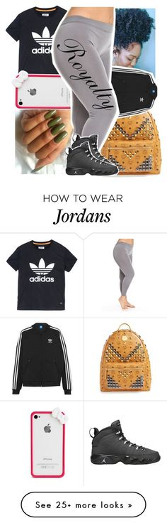 """""""forever love black"""" by lowkeytayy on Polyvore featuring adidas, MCM, adidas Originals and Retrò"""