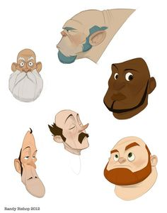 Bald dudes with facial hair by ~randybishopart on deviantART