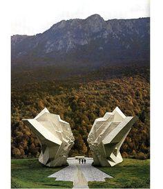 Former Yugoslavia. Modern Memorial following Yugoslavia's emanicipation from the Soviet Union.