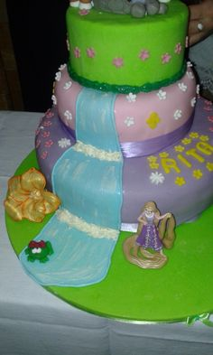 Detail of a Rapunzel Cake, from the Disney movie Tangled