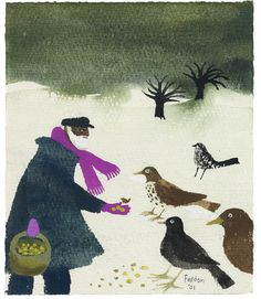 Mary Fedden | Feeding Birds in the Snow