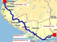 Rondreizen Noorwegen   populaire autoroutes met kaart