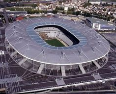 This building paper model is the Stade de France, the national stadium of France, situated just north of Paris in the commune of Saint-Denis, the papercraf France Euro, France 2, Paris France, Soccer Stadium, Football Stadiums, Football Soccer, Soccer Cup, Psg, Places