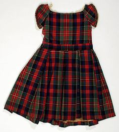 1860's Child's Dress American Silk and Wool