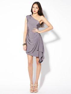 389db1a9533 One Shoulder Drape Dress by L.A.M.B. at Gilt