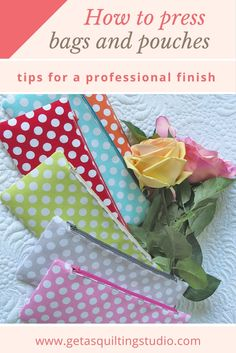 How to press bags and pouches-tips for professional finish. : How to press bags and pouches- tips for making handmade bags and pouches look professional. Serger Projects, Small Sewing Projects, Diy Bags Patterns, Sewing Patterns, Quilting Patterns, Sewing Tutorials, Bag Tutorials, Sewing Tips, Free Sewing