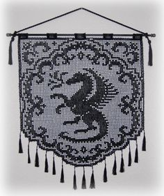 Proud Dragon Wall Hanging Pattern PDF Digital от CrochetNBeads