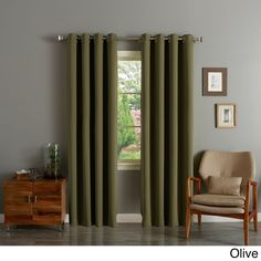 Aurora Home Grommet Top Thermal Insulated 84-inch Blackout Curtain Panel Pair