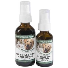 All Smiles Oral Care is a herbal dental spray for pets that removes plaque and tartar and prevents buildup on the teeth. For dogs & cats.