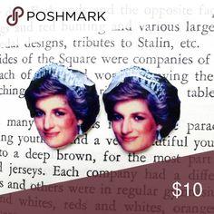 Princess Diana Earrings Handmade Princess Diana earrings.   -Metal Posts -Nickel-Free -Plastic face   Price Firm  No Trades  Jewelry Earrings