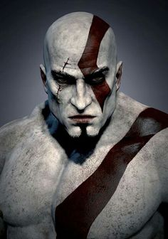 A portrait of Kratos.