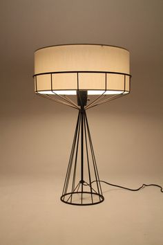 TONY PAUL table lamp from the WIRE series mid by VINTAGELAMPDEN