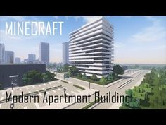 Minecraft Modern Apartment Building 8 (full interior) + Download - YouTube Minecraft Modern City, Minecraft Skyscraper, Minecraft Building Designs, Minecraft Shops, Minecraft Posters, Minecraft City Buildings, Minecraft Mansion, Minecraft Architecture, Minecraft Blueprints