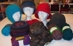 Have a Yarn - February 2006 - Stitch of the Month - Felted Hats Quick Knits, Felt Hat, Brim Hat, Garter Stitch, Beanie, Wool, Knitting, Sewing, Hats
