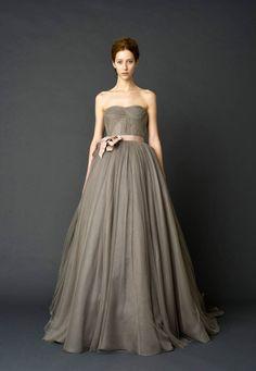 pink peonies: dreamy dresses: vera wang bridal spring 2012