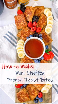 Low Carb Dinner Recipes, Brunch Recipes, Baby Food Recipes, Appetizer Recipes, Healthy Recipes, French Toast Bites, Healthy French Toast, Breakfast Platter, Breakfast Appetizers