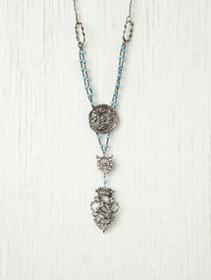 Love Heals Cheerful Turquoise Bead Pendant at Free People Clothing Boutique