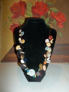 Antique Multi-Button Necklace | HiddenHummingbirdDesigns - Jewelry on ArtFire
