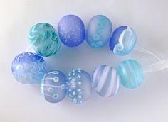 CK Lampwork Beads Caribbean Seas Hollow Beads 9 SRA Handmade   eBay