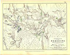 Map - Battle of Berezina 26 - 28 November 1812 - Napoleonic Wars   eBay
