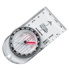 Silva Polaris Baseplate Compass. For product info go to:  https://all4hiking.com/products/silva-polaris-baseplate-compass/