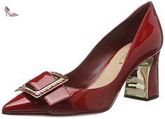 Sebastian  S7128, Escarpins femme - Rouge - Rot (Vercer/Oro), 36 EU - Chaussures sebastian (*Partner-Link)