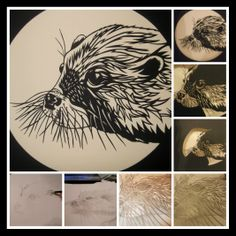 From sketch to papercut...how to make an otter! by Jen Fry