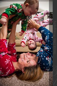 . holiday card idea . #photography #family #kids #pajamas