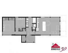 Modern style house plan 2 beds 2 baths 1575 sq ft plan for Micro compact home floor plan