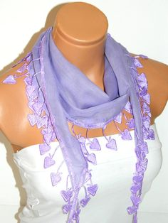 Personalized Design lilac Scarf Turkish Fabric by WomanStyleStore, $14.00