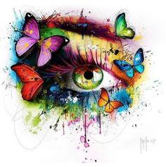 Patrice Murciano, Fabulous Pop Art painting Source by Murciano Art, Patrice Murciano, Eyes Artwork, Poetry Art, Eye Painting, Eye Art, Skull Art, Art Pictures, Watercolor Art