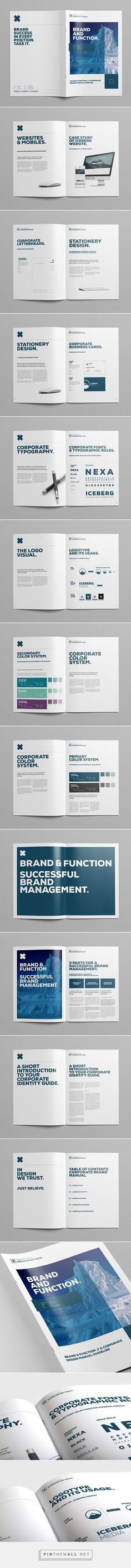 Elite Corporate Design Manual Guide on Behance - created via http://pinthemall.net #MANUALDESIGN