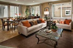 Plan 2 Living and Dining Living Room Designs, Living Room Decor, Living Rooms, South Bay Area, Living Dining Combo, Kb Homes, Amazing Spaces, New Homes For Sale, Entertainment Room