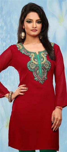 d1ef68cb5fa1a 11 Best Kurties images | Blouses, Cotton tunics, Shift dresses
