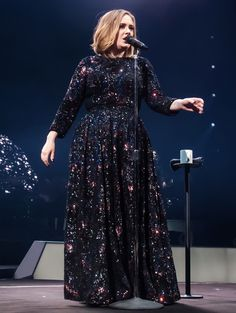 Adele Kicks Off Her 25 World Tour in a Dazzling, Fully-Sequined Burberry Dress from InStyle.com