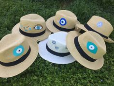 Cotton Prince handpainted Panama hats! summer 2017 Painted Hats, Hand Painted, Evil Eye Art, Eye Painting, Evil Eye Jewelry, Diy Hat, Love Hat, Hats For Sale, Cool Eyes
