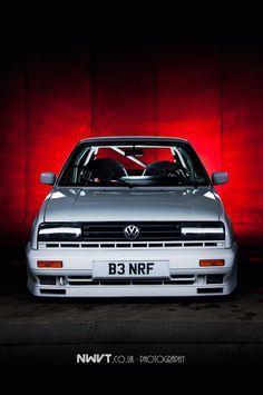 Bens White VW Golf Rallye Mk 2.  Light Painted During A Long Exposure.  Copyright : NWVT.co.uk 2012